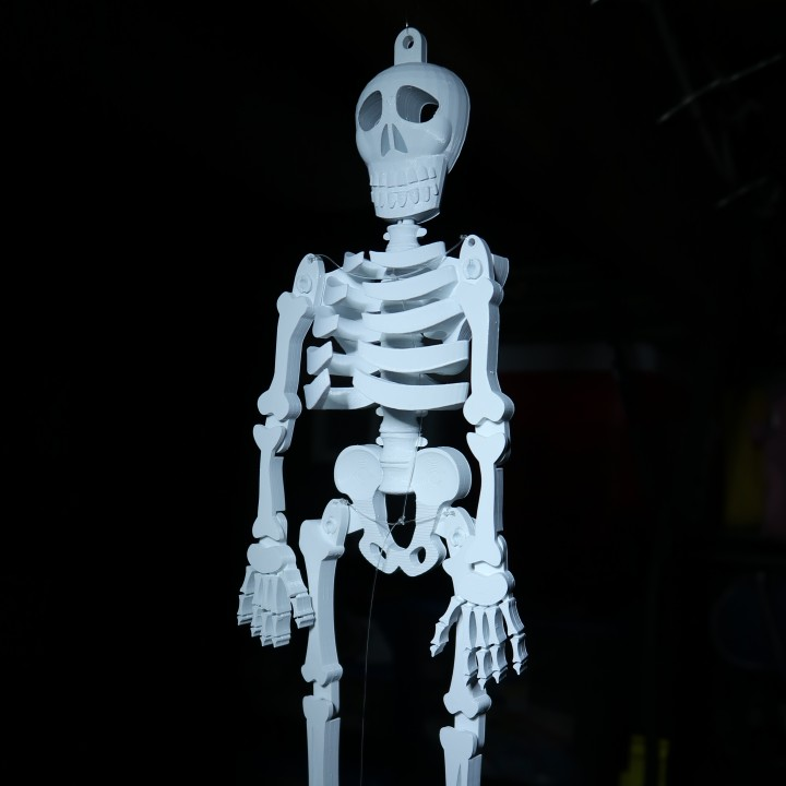 Dancing Skeleton by Geoffrey Shorts. Photo via Tinkercad Halloween competition.