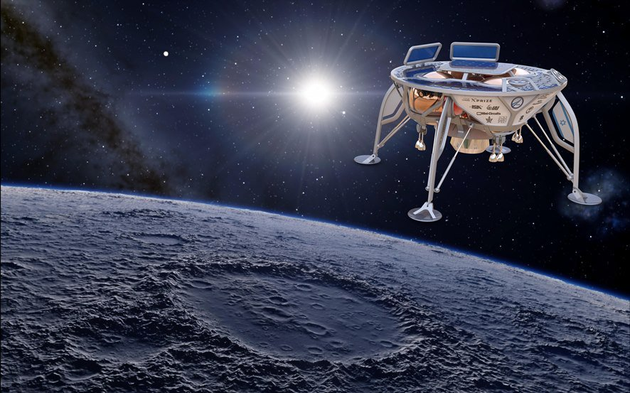 An animation of what Space IL's spacecraft may look like. Photo via Space IL.
