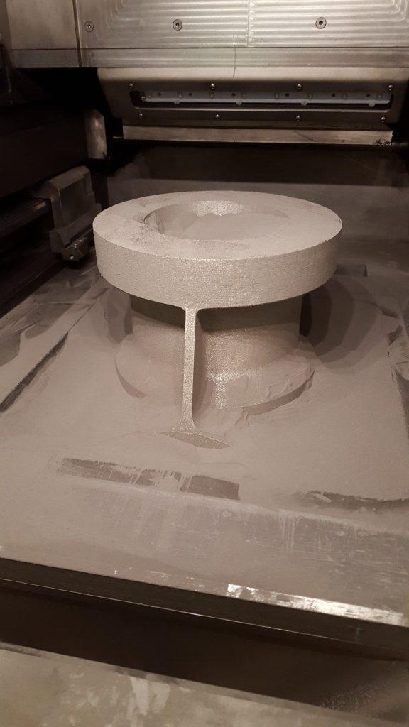 SLM Solutions 3D printed titanium aircraft component.