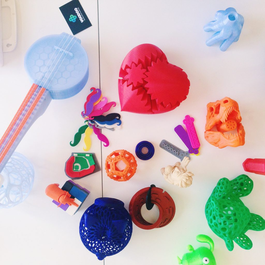3D Printed objects from Voodoo Manufacturing.