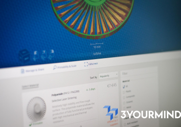Preview of 3YOURMIND's SaaS platform. Image via 3YOURMIND