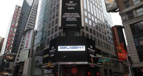 3diligent goes large in Times Square. Photo via 3Diligent.