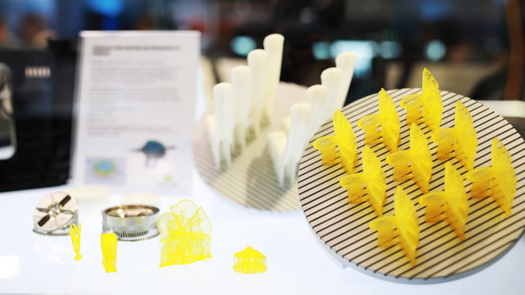 Products of a DWS 3D printer. Photo via DWS