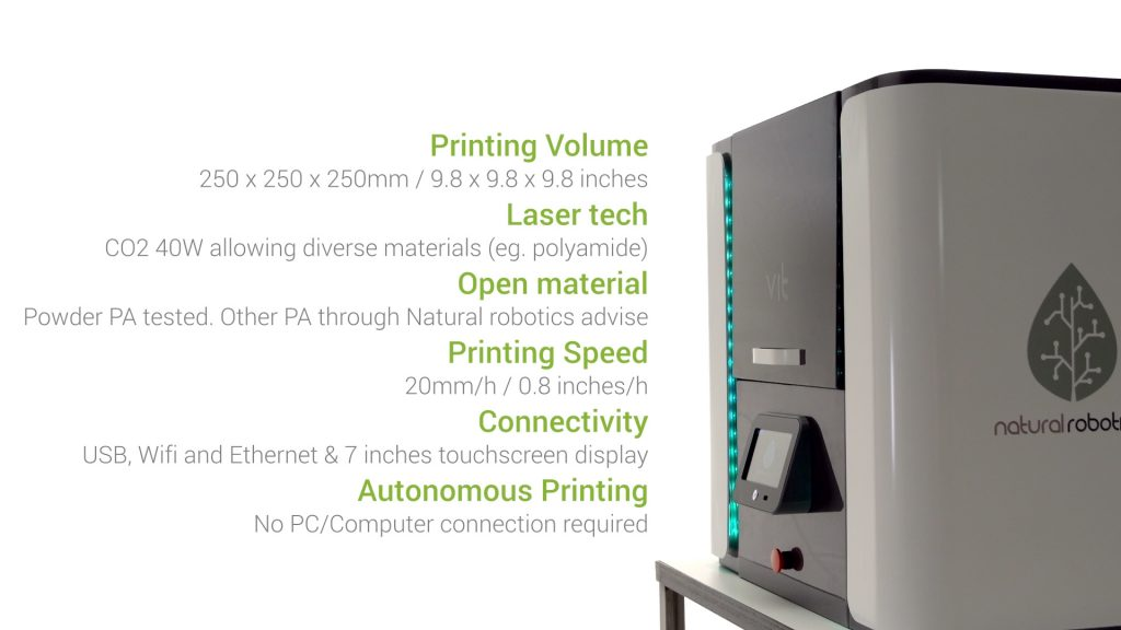 VIT technical specifications. Image via Natural Robotics