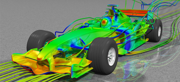 ANSYS fluid dynamics simulation software has previously helped Redbull's F1 team. Image via ANSYS.