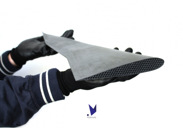 An aerodynamic wing 3D printed using Carbon PEEK. Photo via Roboze.