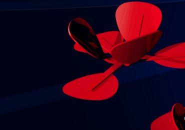 A graphical representation of TU Delft's self folding tulip. Image via TU Delft