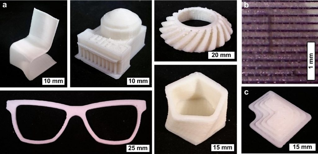 Sample object 3D printed in the MIT Fast FFF process. Image via Additive Manufacturing journal, vol 18.