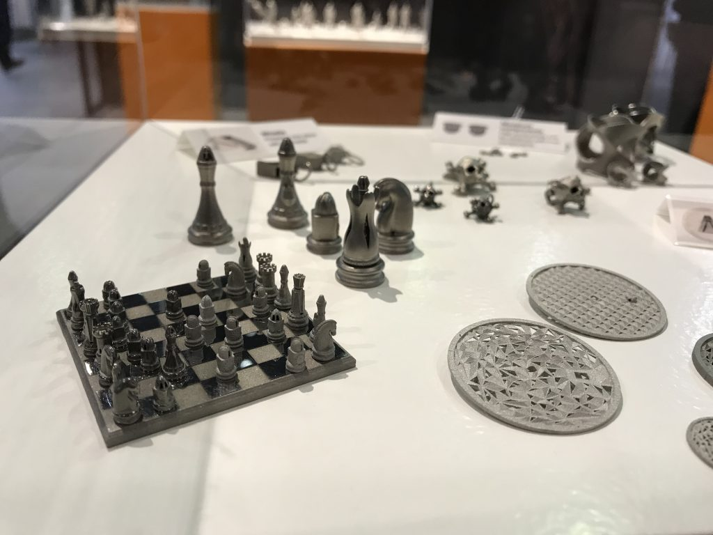 Mini 3D printed samples from Digital Metal. Photo by Beau Jackson for 3D Printing Industry