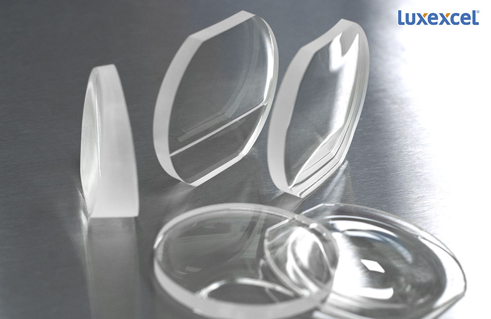 Luxexcel 3D printed lenses. Photo via Luxexcel