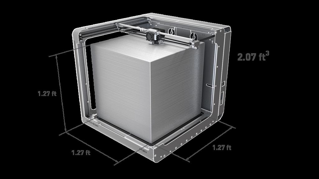 M3D Promega's Build Dimensions.