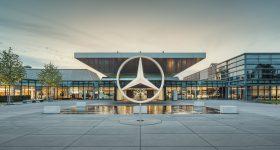 Mercedes-Benz center at Sindelfingen. Photo via Mercedes-Benz