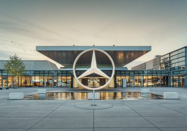 Mercedes-Benz center at Sindelfingen. Photo via Mercedes-Benz