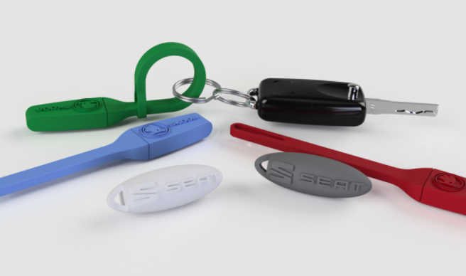 Iterate have previously produced scented key fobs using 3D printing. Photo via Iterate.