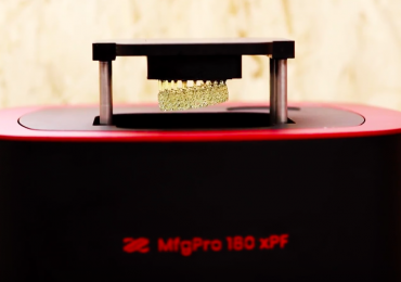 Nexa3D SLA 3D printer with XYZprinting's MfgPro 180 xPF branding. Photo via XYZprinting/XponentialWorks.