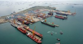One of Sembcorp Marine's shipbuilding ports. Photo via Sembcorp Marine