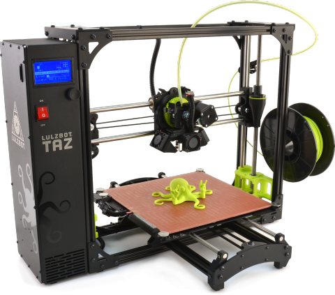 The LulzBot TAZ 6 3D printer. Photo via LulzBot.
