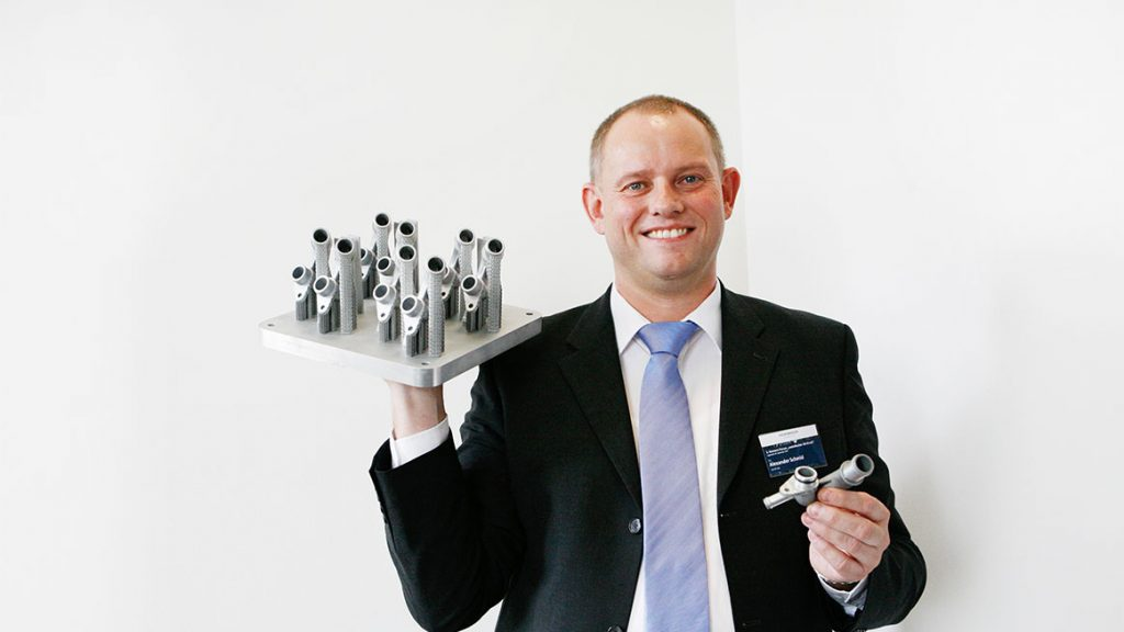 Alexander Schmid, a member of After Sales and Sales at AUDI AG. Photo via Volkswagen AG
