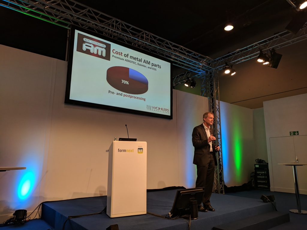 Terry Wohlers at formnext 2017. Photo by Michael Petch.