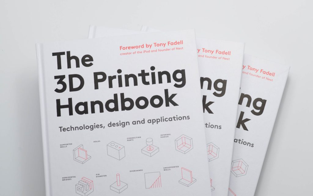 The 3D Printing Handbook was recently launched. Photo via 3D Hubs.