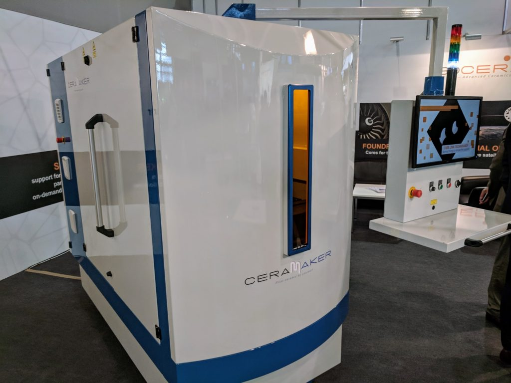 The Ceramaker 3D printer from 3DCeram. Photo by Michael Petch.