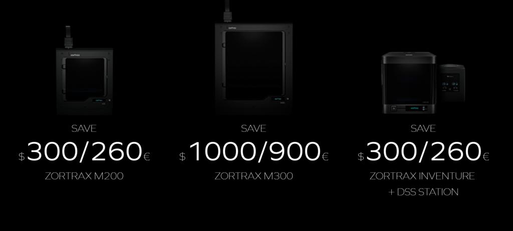 Zortrax Black Friday 3D printer offer.