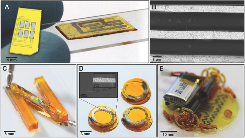MFAM made electronic parts. Image via Advanced Materials Technologies