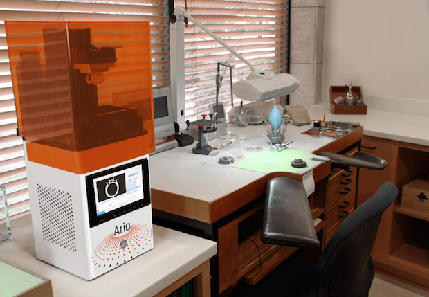 The Aria 3D printer from EnvisionTEC in the workplace. Photo via EnvisionTEC.
