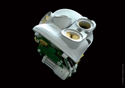 Rendering of CARMAT's artificial heart. Image via Carmat.