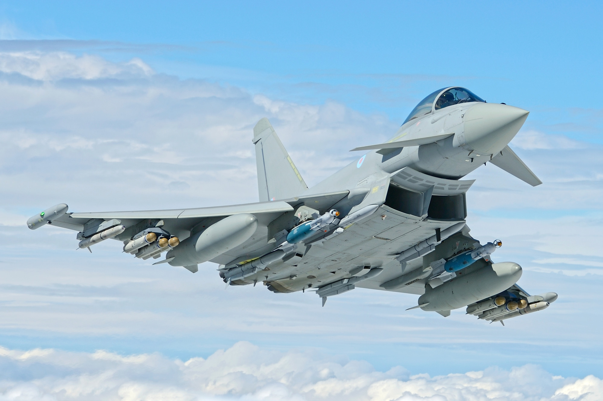 A Eurofighter Typhoon aircraft. Photo via BAE Systems
