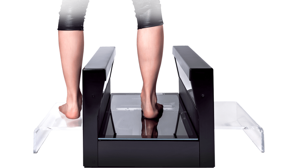 HP's FitStation scanning a foot. Photo via fitstation.