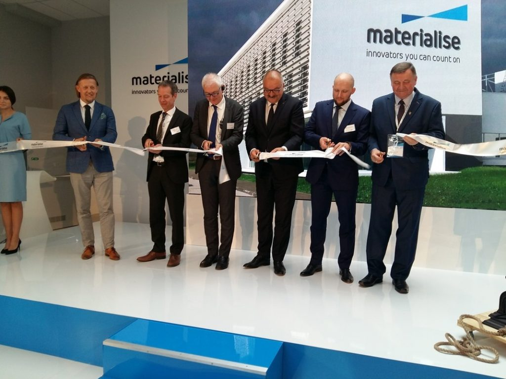 Materialise executives opening the Wroclaw facility. Photo via Materialise.