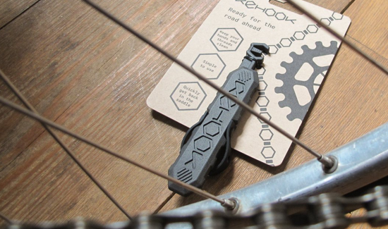 The Rehook bicycle accessory was 3D printed by 3D Hubs.