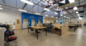 Empty TechShop at Arizona State University. Photo via ASU.