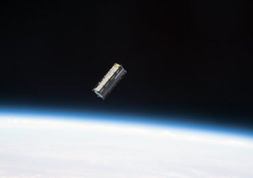 The Tupod deployed in space. Photo via NASA.