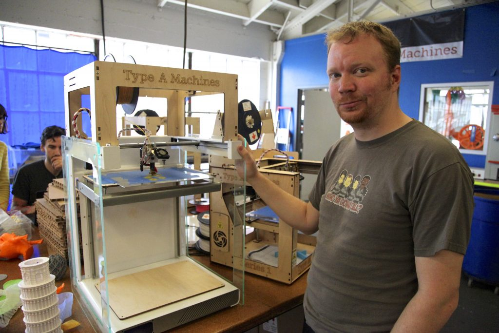 Type A Machines founder. The 3D printing OEM is just one of TechShop's many success stories. Photo via GigaOm.