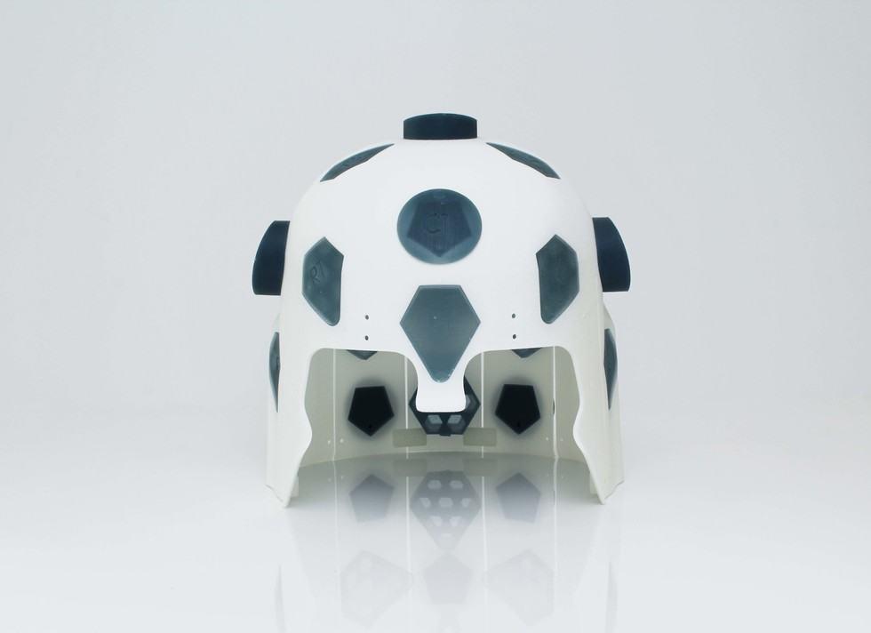 A Chalk Studios 3D printed prototype headcast. Photo via Chalk Studios