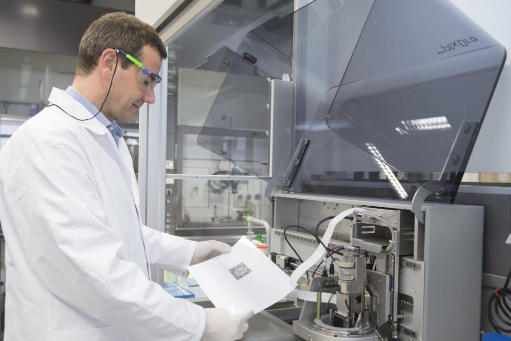 Clariant's existing R&D capabilities include industrial inkjet printing. Photo via Clariant.