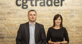 CGTrader co-founders Marius Kalytis and Dalia Lasaite.