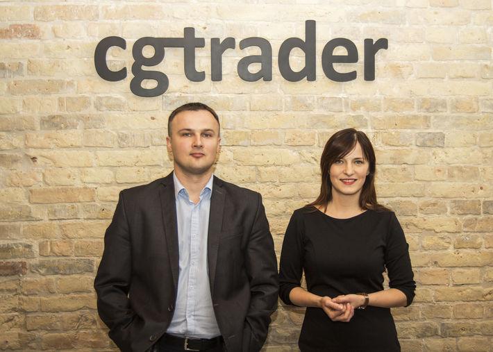 CGTrader co-founders Marius Kalytis and Dalia Lasaite.
