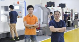 Engineers in WayKen's CNC Machining department. Photo via WayKen Rapid