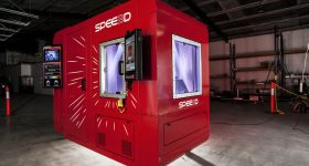 SPEE3D's LightSPEE3D 3D printer. Photo via SPEE3D.