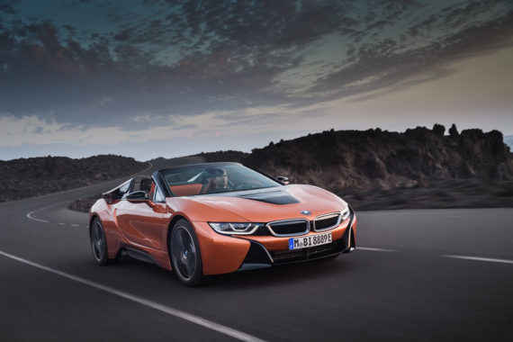 Starting small - components of BMW's i8 Roadster have been made using 3D printing. Image via BMW Group