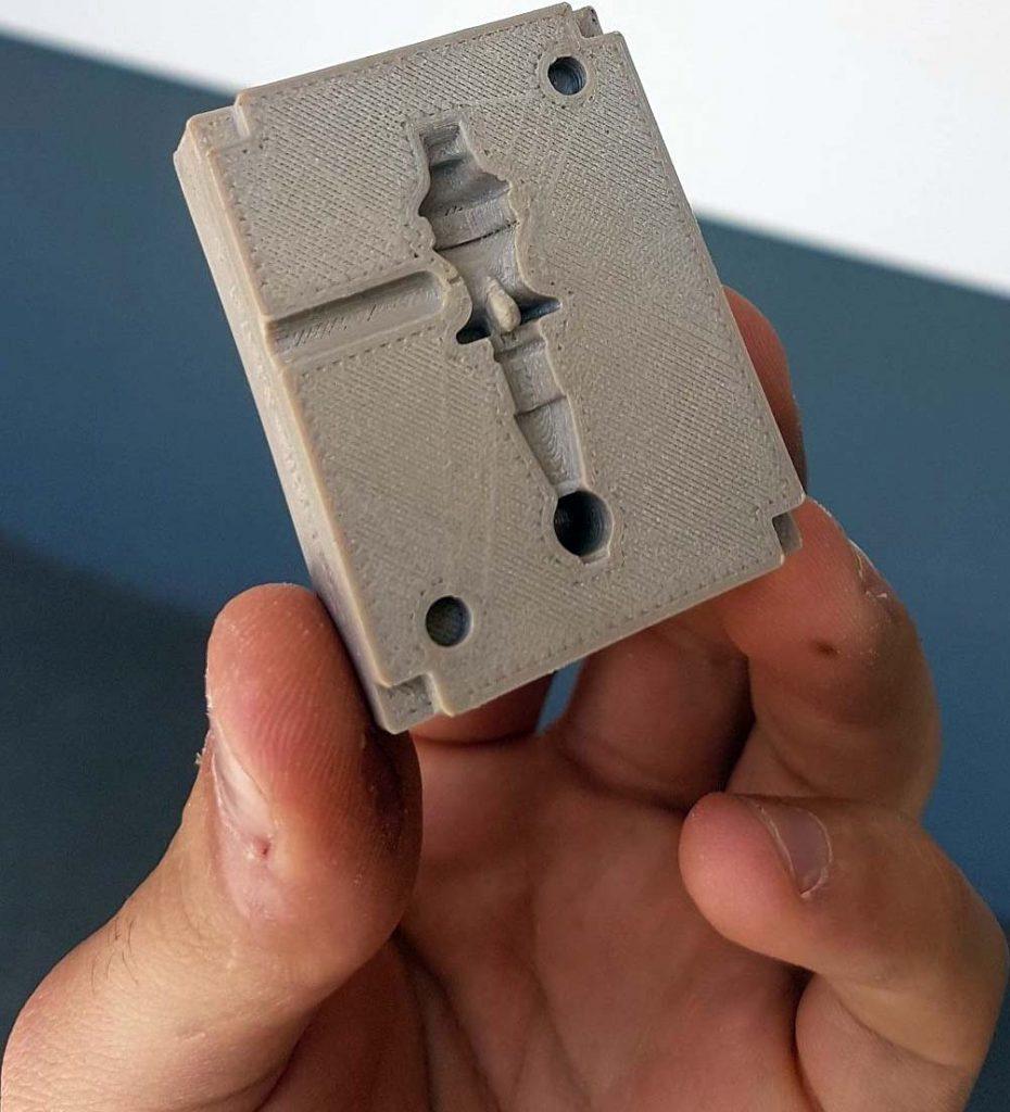 A Roboze 3D printed PEEK mold.