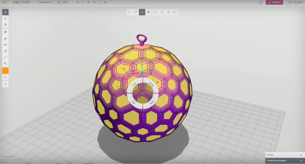 Vectary's online 3D design software makes creating for Christmas easier than ever before. Image via Vectary/Youtube.