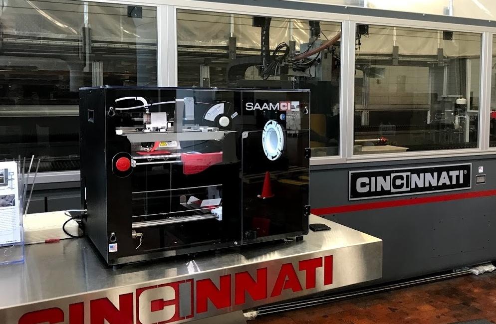 The NVBOTS SAAMHT 3D printer at Cincinnati Incorporated. Photo via Cincinnati Incorporated.