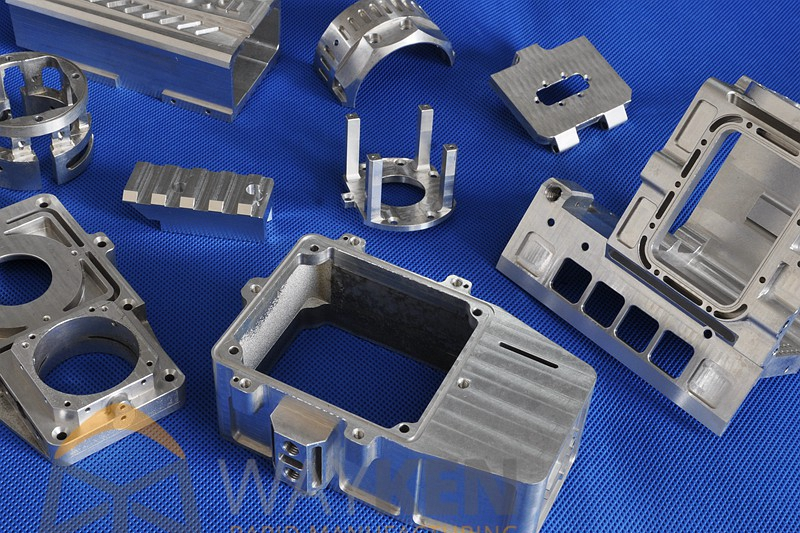An example of aluminum CNC machined prototypes. Photo via WayKen