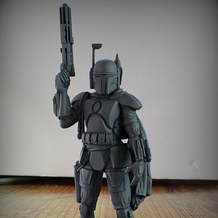 SLA 3D printed Boba Fett. Photo by Printed Obsession.