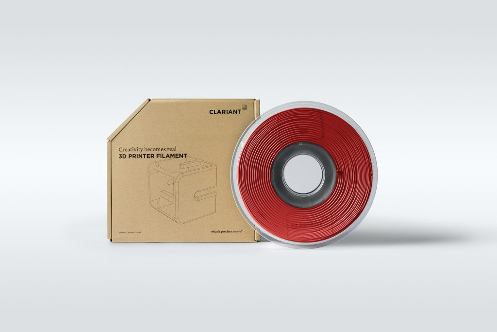 3D printing filament spool from Clariant. Photo via Clariant.