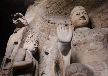 Two of the Yungang Cave statues that were scanned 3D printed. Photo by FamilyTravelSecrets.